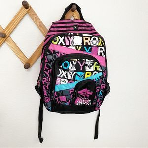 Roxy Neon Pink and Black Backpack